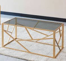 clio rectangle grey glass coffee table