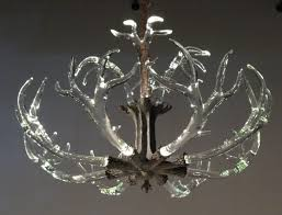 chandelier shades tree underwood park barn marketreativelients s bob earrings rose gold black therystal antler lighting