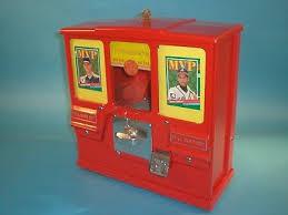 Baseball Card Vending Machine For Sale Interesting OAK PREMIERE BASEBALL Card Gumball Vending Machine Circa 48