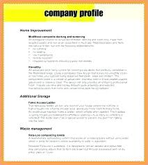 Company Profile Sample Amazing Sample Business Profile Template Image Collections Business Cards