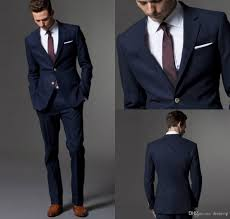 navy suit wedding. Custom Made Dark Navy Blue Men Suits 2017 Fashion Suit Wedding Suits