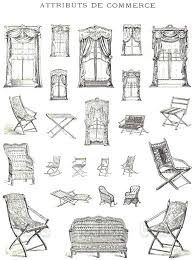 window chair furniture. Chair Types Vintage French Furniture Book Illustrations Of By Window And 3 Letters