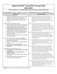 algebra ccss 8 grade math pacing guide