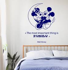 wall decal family art bedroom decor  family wall decals disney mouse on a moon wall quotes children vinyl sticker baby kids wall decor love art girl boy nursery room decor kg ae