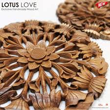 carved wood wall art decoration