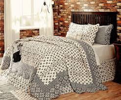 elysee 100 cotton king quilt 4 pc set black gray cream fleur de lis bedspread