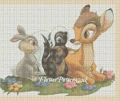 Free Disney Cross Stitch Charts Disney Cross Stitch Chart Bambi Friends Flowerpower37 Uk