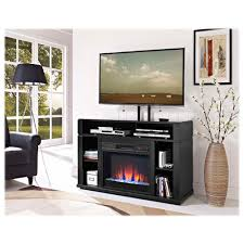 elements tv stand for 50 55 tv with crushed glass fireplace and bonus tv stand for tvs up to 48 am100fp