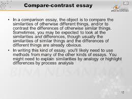 matakuliah g writing iv tahun versi v rev  12 compare contrast essay