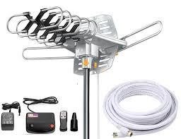 vilso tv antenna outdoor amplified motorized 360 degree rotation
