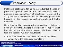 classical economic thought ppt  population theory
