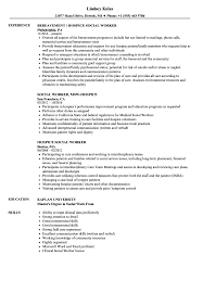Hospice Social Worker Resume Samples Velvet Jobs