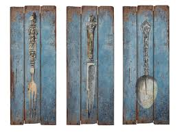shabby chic utensil wall art shabby french chic knife fork spoon utensil wall decor art on wood on kitchen fork knife spoon wall art french painting with shabby chic wall art home design ideas essentials