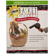 photo frog 66041 basket accents shrink wrap bags small 18 x30 2 pkg