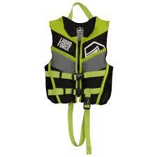 Liquid Force 2019 Fury Cga Child Vest Black Green Kids Life Jacket