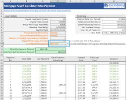 Mortgage Calculator With Extra Monthly And Yearly Payments Mortgage Payoff Calculator With Extra Payment Free Excel Template