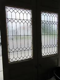 3 of 12 antique stained glass double entrance french doors 60 x 101 salvage