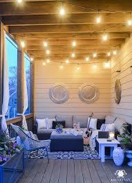 living lighting home decor. Twinkle Lights On The Back Porch- Cozy Outdoor Living Lighting Home Decor O