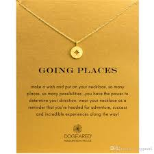 whole dogeared compass choker necklaces gold silver with card pendant necklace for fashion women jewelry going places mens pendants for necklaces silver