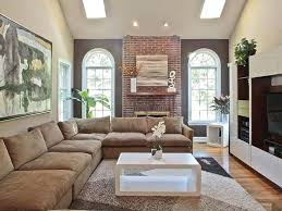 living room with brick fireplace paint colors mid century living room a retro fireplace living room with