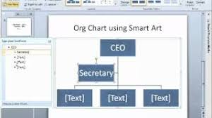How To Do An Org Chart In Powerpoint 2010 How To Make An Org Chart In Powerpoint 2010 Using Smartart