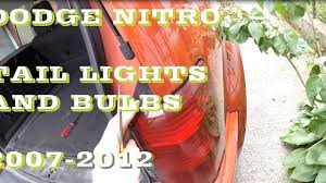 2007 Dodge Nitro Rear Light Assembly How To Change Replace Dodge Nitro Tail Lights And Bulbs