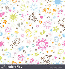 Baby Patterns Simple Abstract Patterns Baby Seamless Pattern Stock Illustration