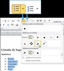 Microsoft Word 2010 Insertar Viñetas O Bullets