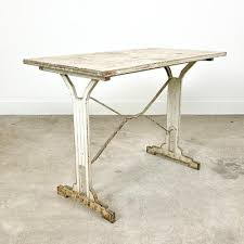 antique white painted wooden bistro