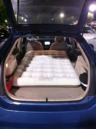 Backseat Inflatable Bed Prius Camping Following Forty