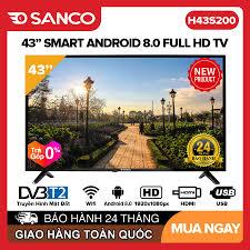 TRẢ GÓP 0%] Smart Voice Tivi Asanzo 43 inch Full HD - Model 43AS530 43AS560  43SL600 (Android 8.0 Viền mỏng Viền kim loại nguyên khối Tích hợp tính năng  tìm kiếm bằng