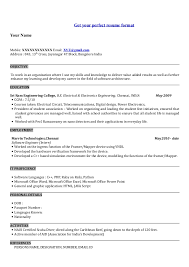 Perfect Resume Format For Freshers Resume Format For Freshers Download
