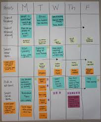 Group Planning Calendar Sample Unit Planning Calendar Three Week Unit Sage Companion