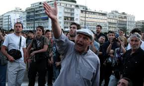 Image result for Greek Pensioners Crash Pension Form Lines At Bank
