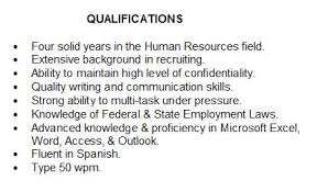 skills and qualifications summary of qualifications how to describe yourself on your resume