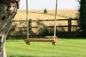 Tree Swing Wooden Childrens Swings Makemesomethingspecialcom