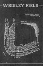 Shi Stadium Seating Chart Print Of Vintage Style Wrigley Field Seating Chart Wrigley