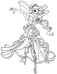 Homely Ideas Winx Sirenix Coloring Pages For Kids 27 H Luxury Of