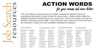 Action Verbs For Resumes New Active Verbs Resume Colbroco