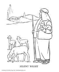 Religious Christmas Bible Coloring Pages Silent Night Coloring