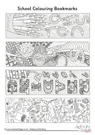 doodle colouring bookmarks