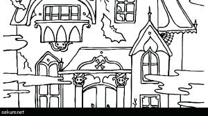 Haunted Houses Coloring Pages Kontaktimproorg