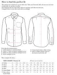 Dress Shirt Measurement Chart Dreamworks