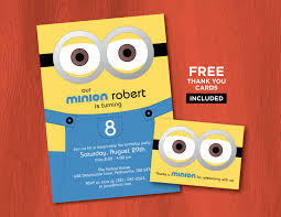 minion birthday invitation card printable minion birthday invitations personalized