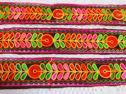 Decorative Fabric Trim Indian Embroidered Floral Lacedecorative Trimfabric Lacesari