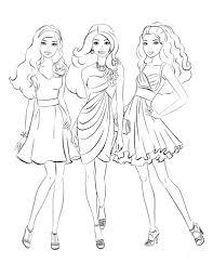 Tranh tô màu công chúa Barbie cho bé gái đẹp nhất - Chia sẻ 24h
