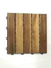 teak wood interlocking deck tile waterproof teak wood outdoor flooring tiles for swimming pool