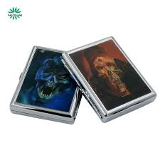 2019 Cigarette Box 20 Metal Cigarette Boxes Stick Ghost Head 3d Pieces Metal Tobacco Boxes For Men Anti Pressure Cigarette Boxes Wholesale From