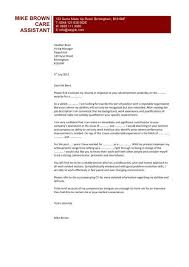 Cv Template For Care Assistant Sample Cover Letter For Aged Care Nursing Care Assistant Cv