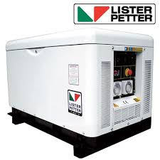 generator. 10kVA, Single Phase, Standby Diesel Generator With Lister Petter Engine In Canopy